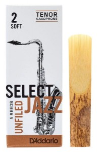 D'ADDARIO SELECT JAZZ UNFILED - stroik do saksofonu tenorowego 2S