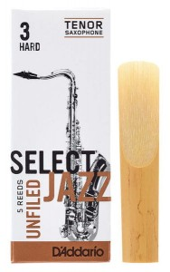 D'ADDARIO SELECT JAZZ UNFILED - stroik do saksofonu tenorowego 3H
